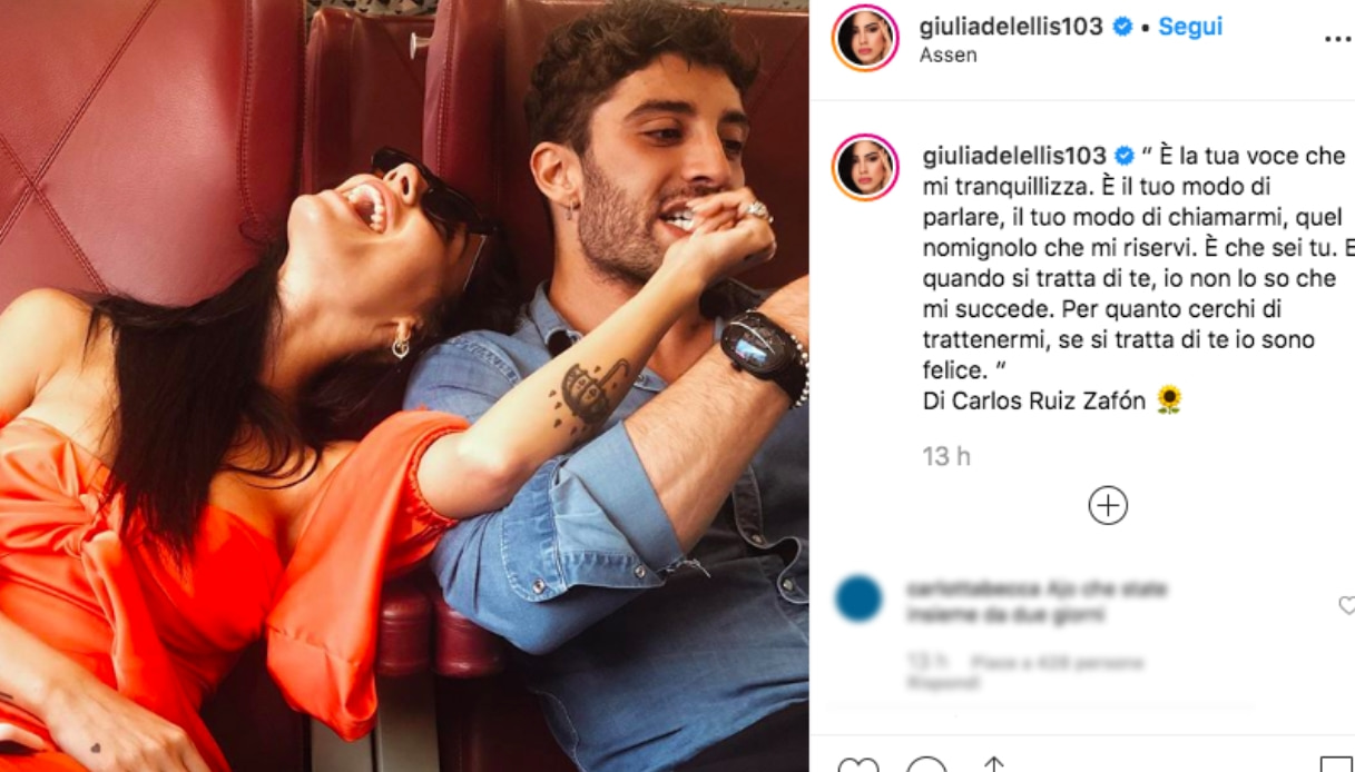 Andrea Iannone e Giulia De Lellis Instagram