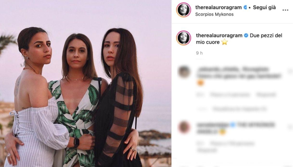 Aurora Ramazzotti a Mykonos con le amiche del cuore