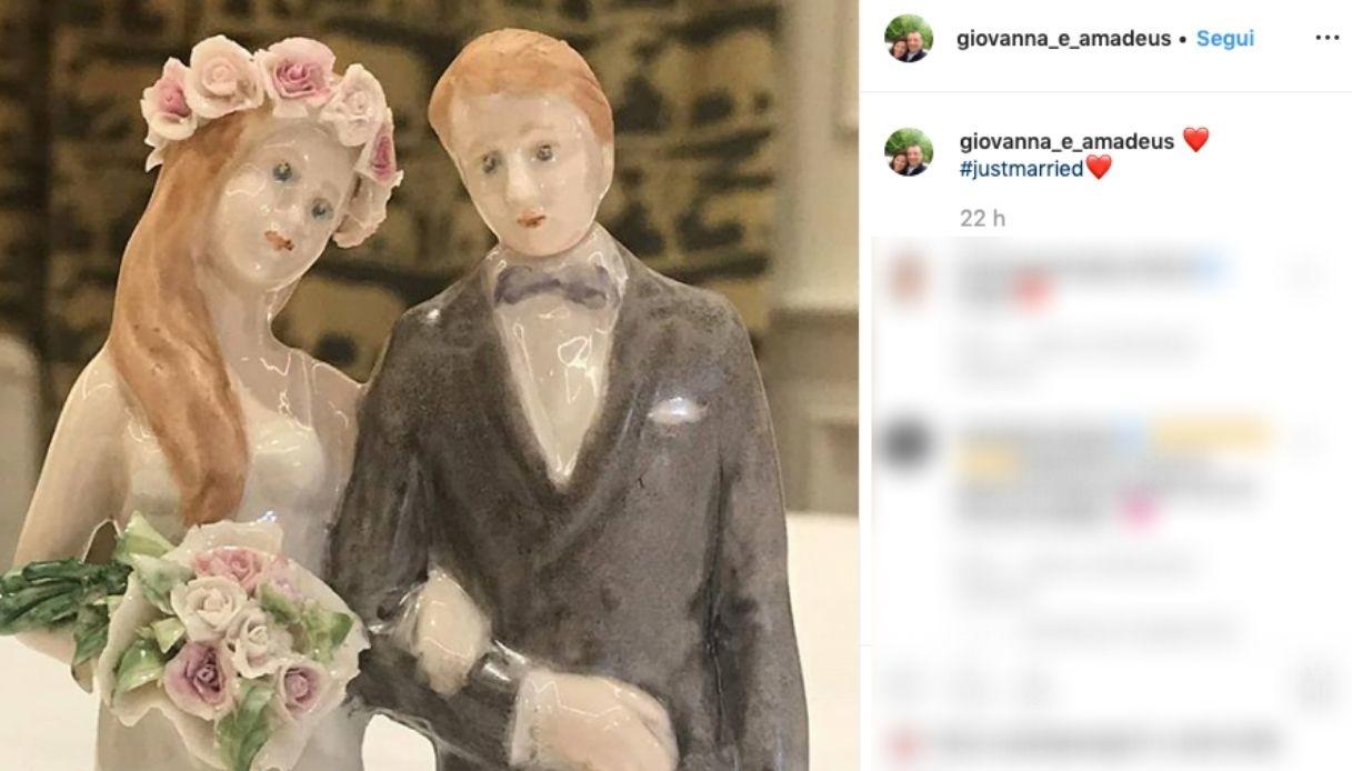 Amadeus e Giovanna Civitillo, l'annuncio del matrimonio