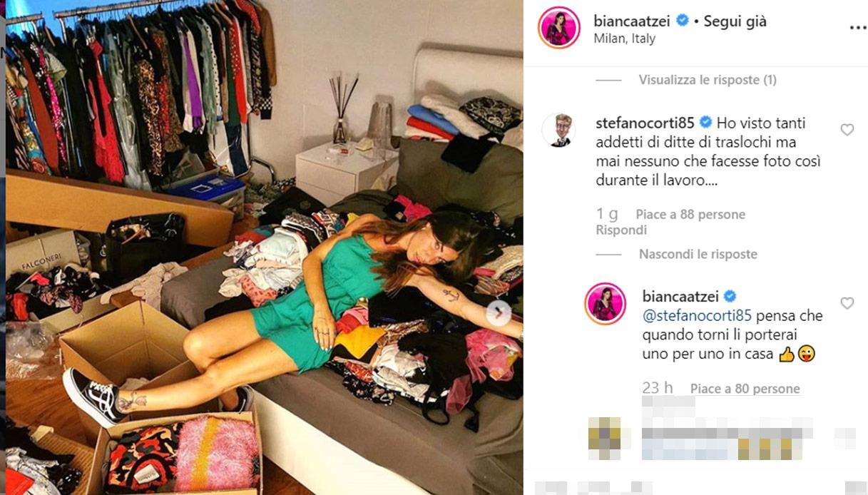 Bianca Atzei trasloco