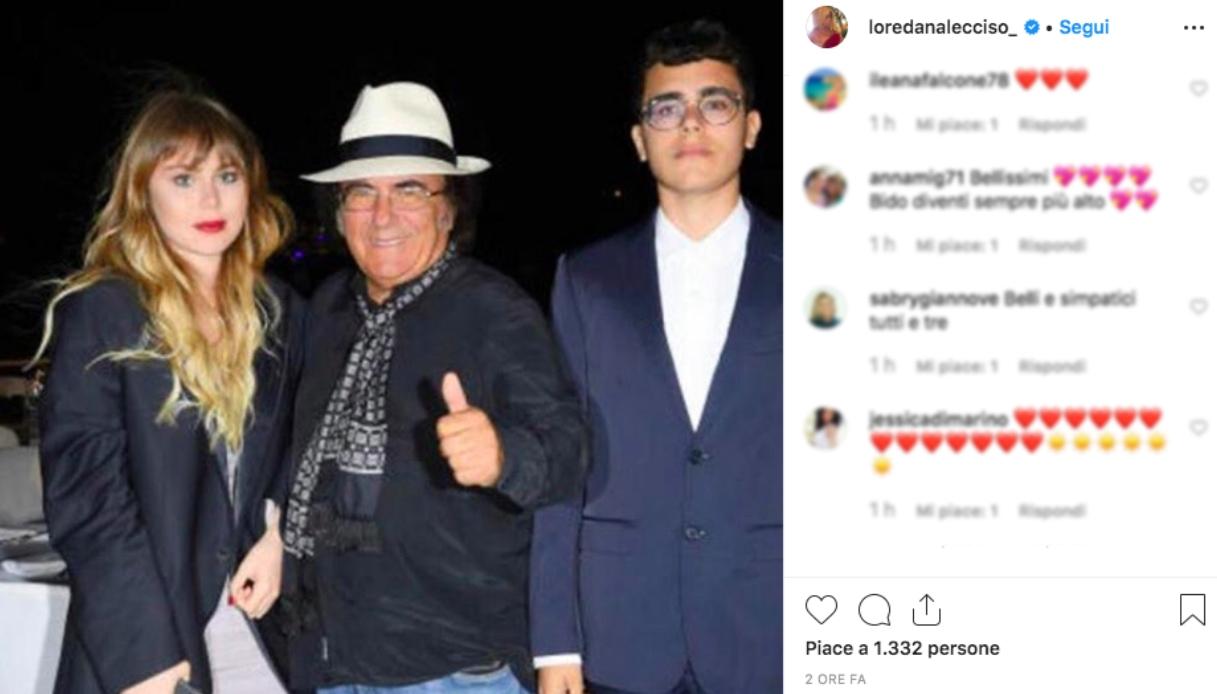 Il post di Loredana Lecciso con Al Bano
