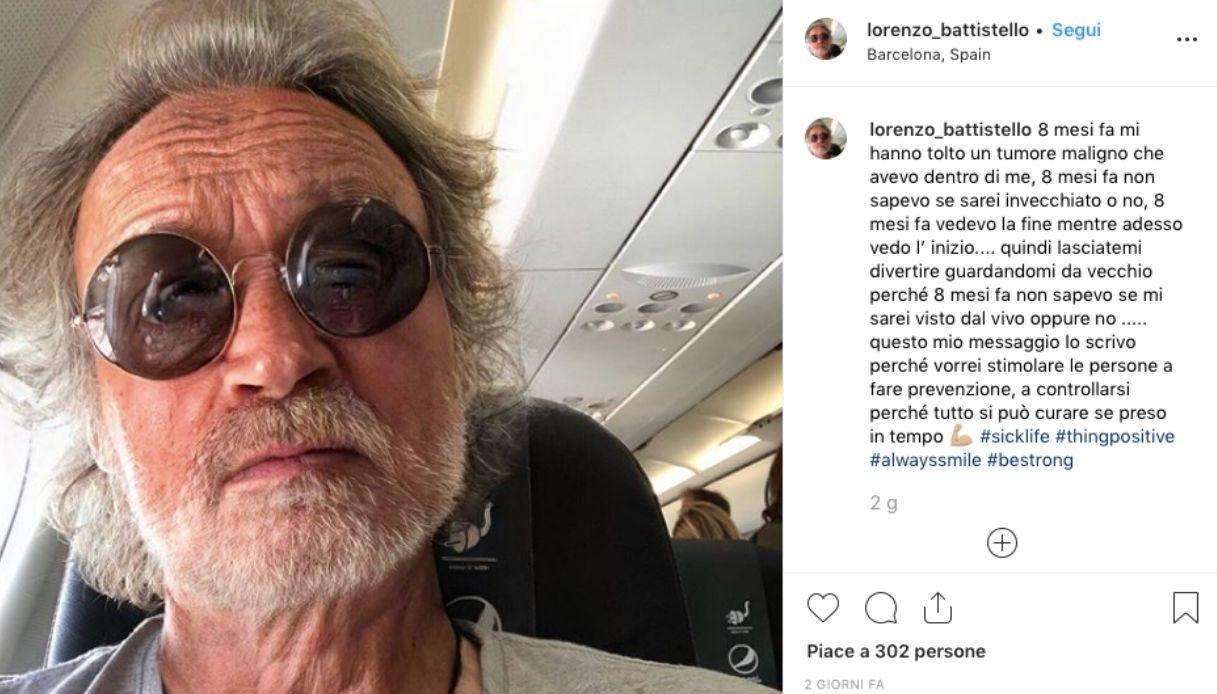 Lorenzo Battistello svela dramma