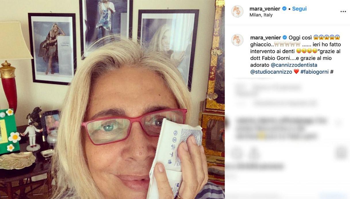 Mara Venier intervento denti