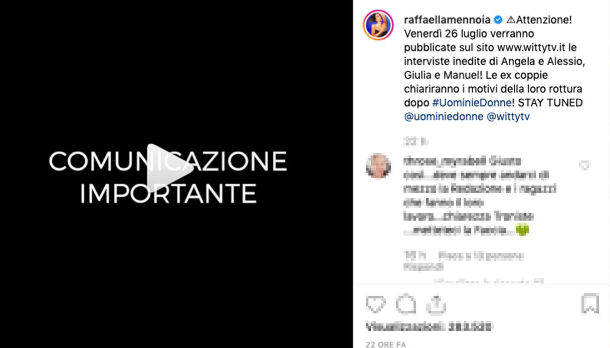 Raffaella Mennoia annuncia la data di una puntata speciale di Uomini e Donne