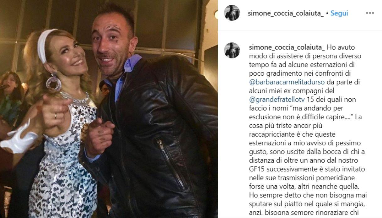 Barbara D'Urso e Simone Coccia