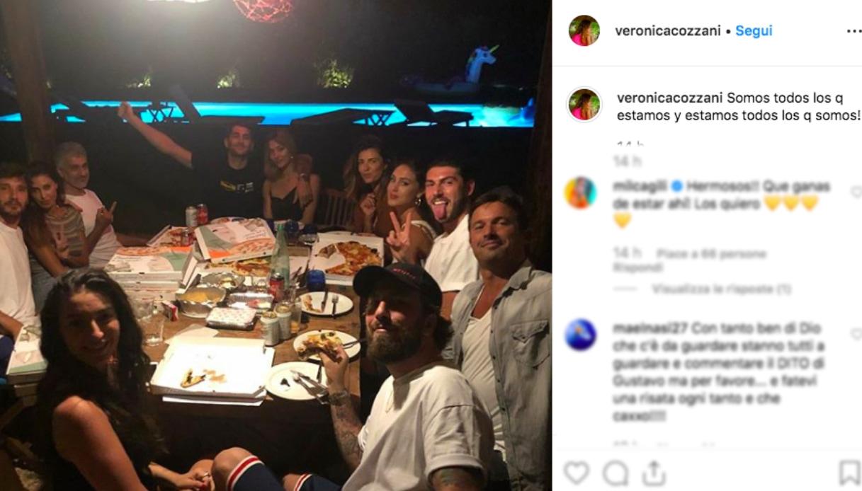 Belen con la famiglia Rodriguez Instagram
