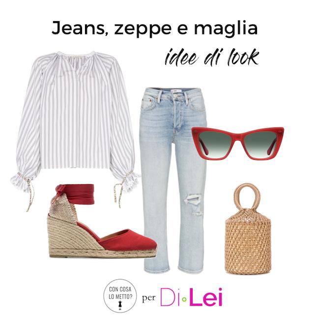 Zeppe, jeans e maglia: come mixare questi tre capi