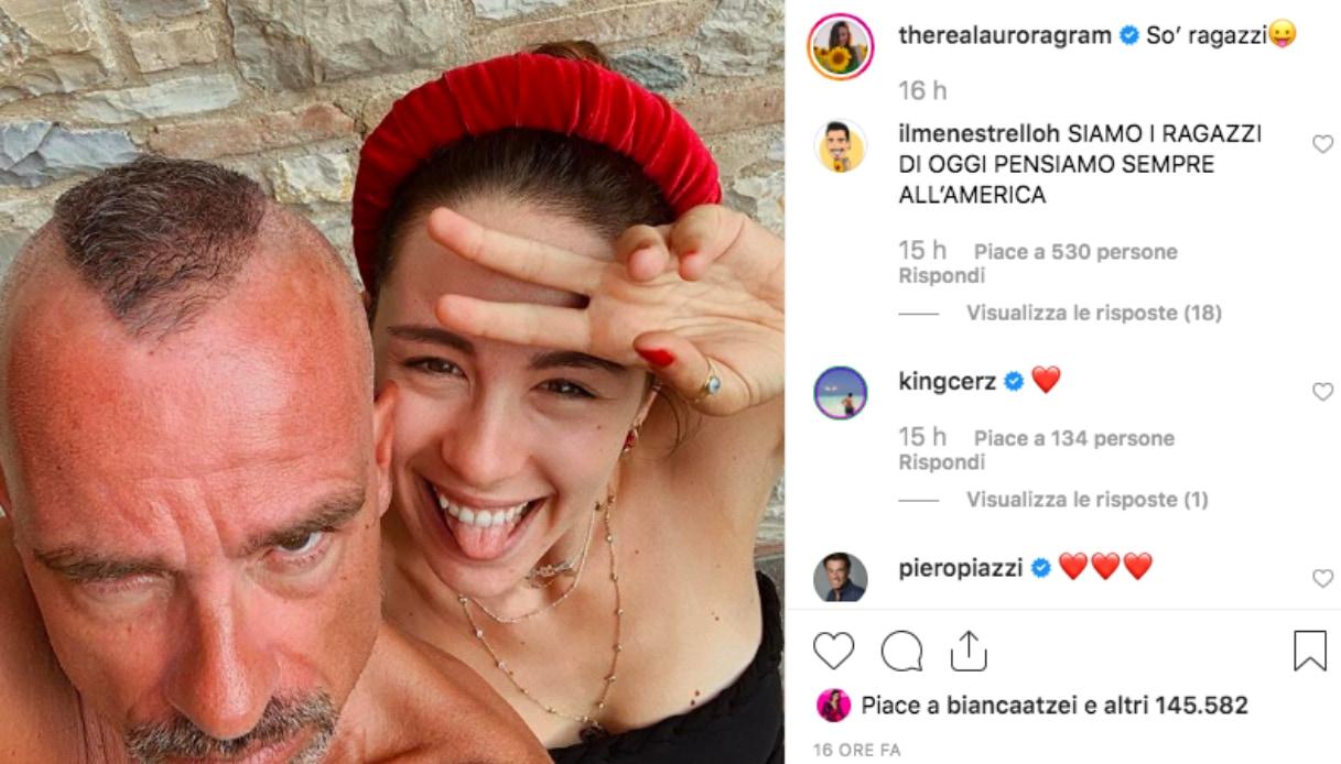 Eros Ramazzotti e Aurora
