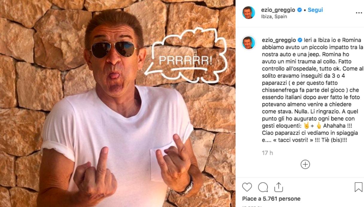 Ezio Greggio Instagram