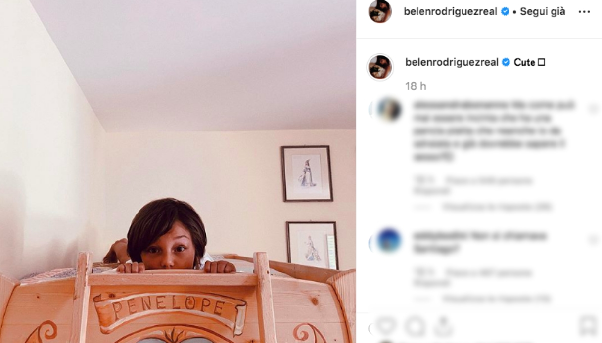 Il post di Belen Rodriguez
