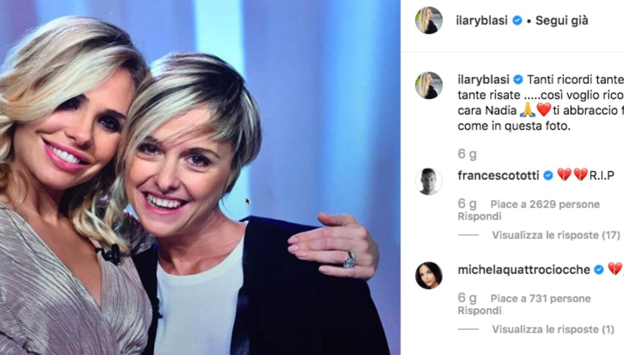 Ilary Blasi e Nadia Toffa Instagram