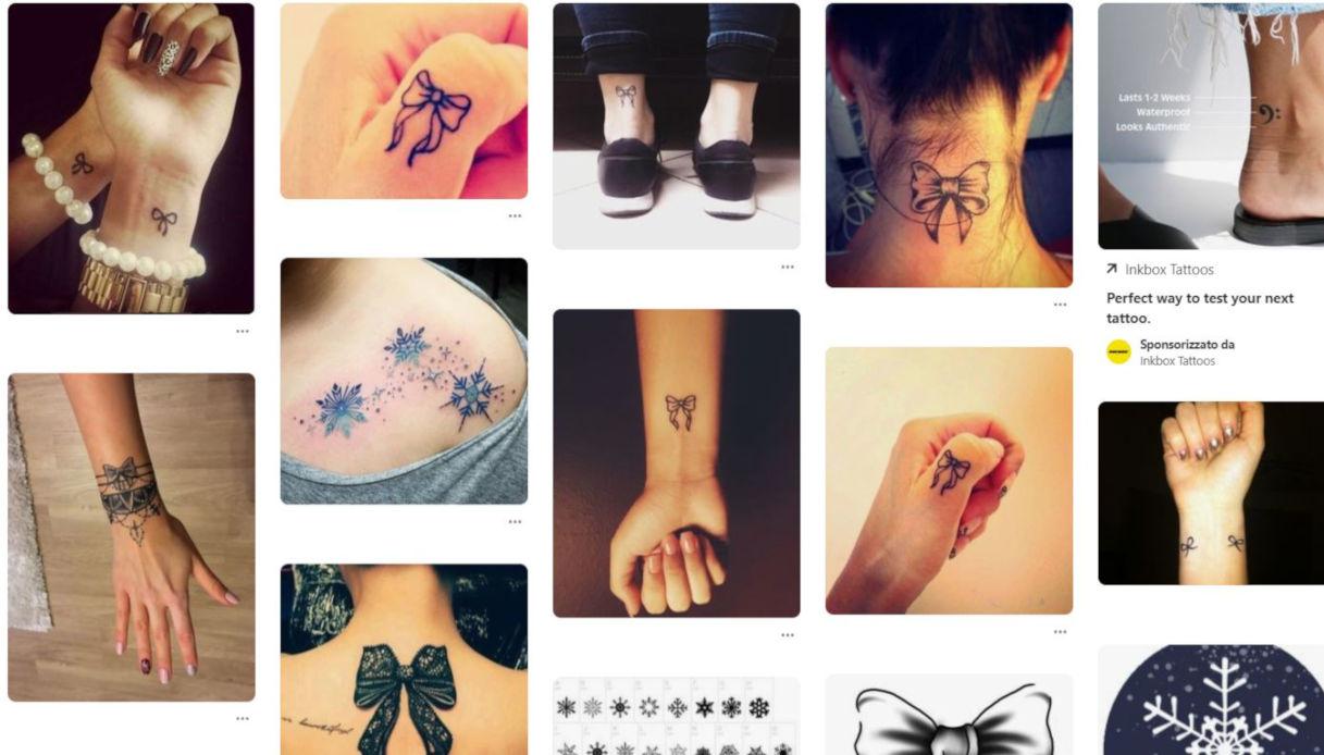 Stili di un tatuaggio con fiocco