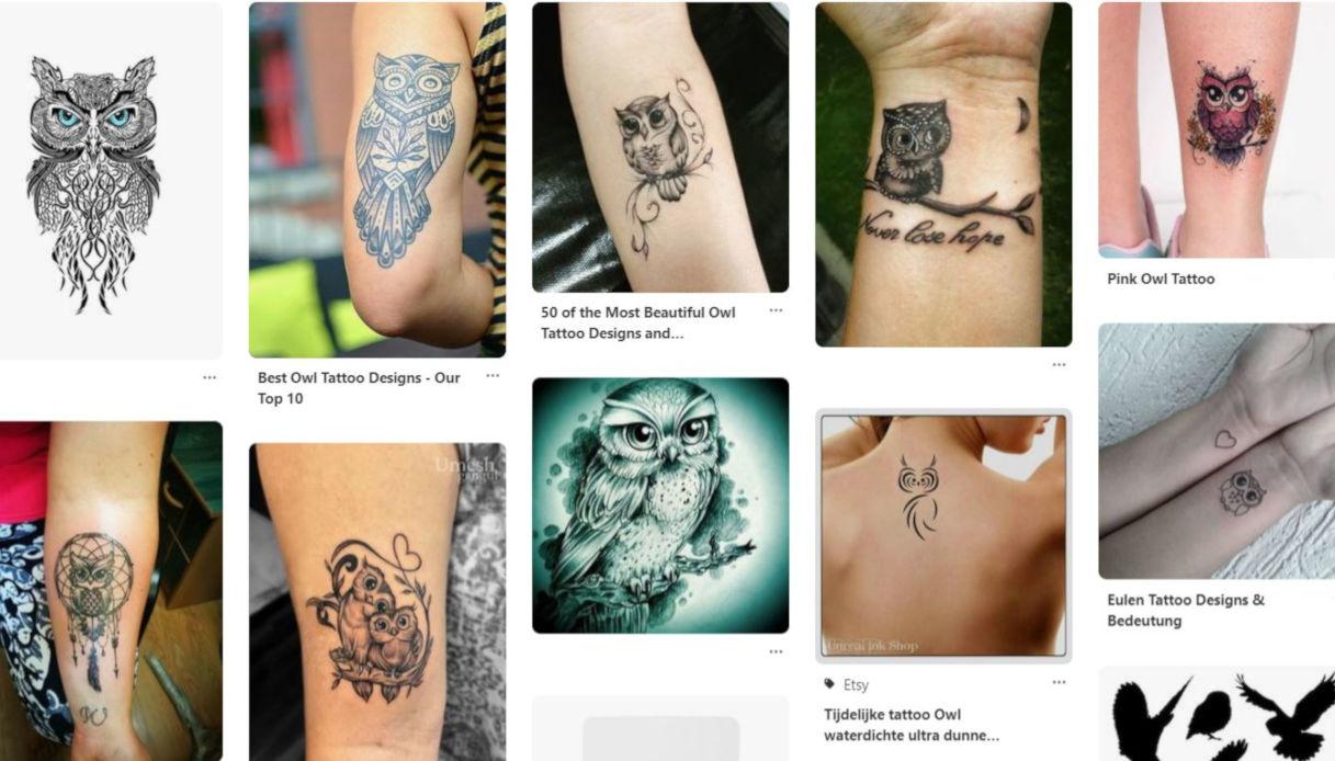 Significati del tatuaggio con gufo