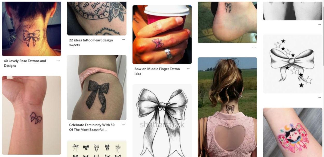 Tatuaggio a forma di fiocco: idee