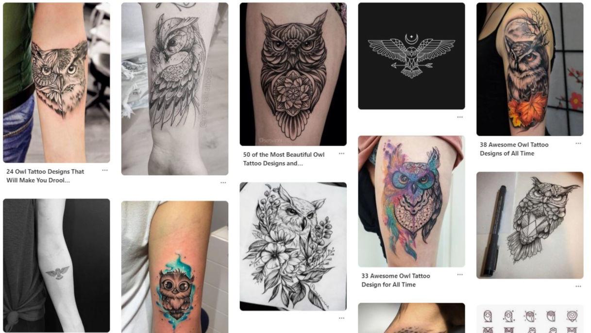 Significato del tatuaggio con gufo o civetta