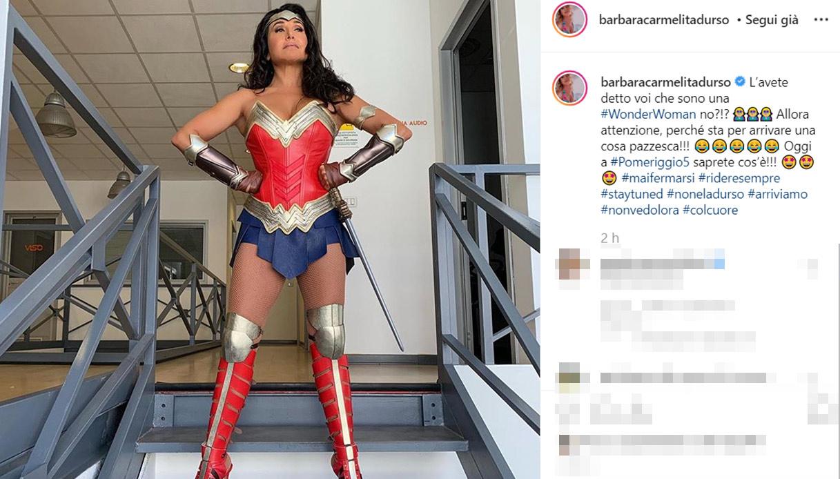 Barbara D'Urso Wonder Woman