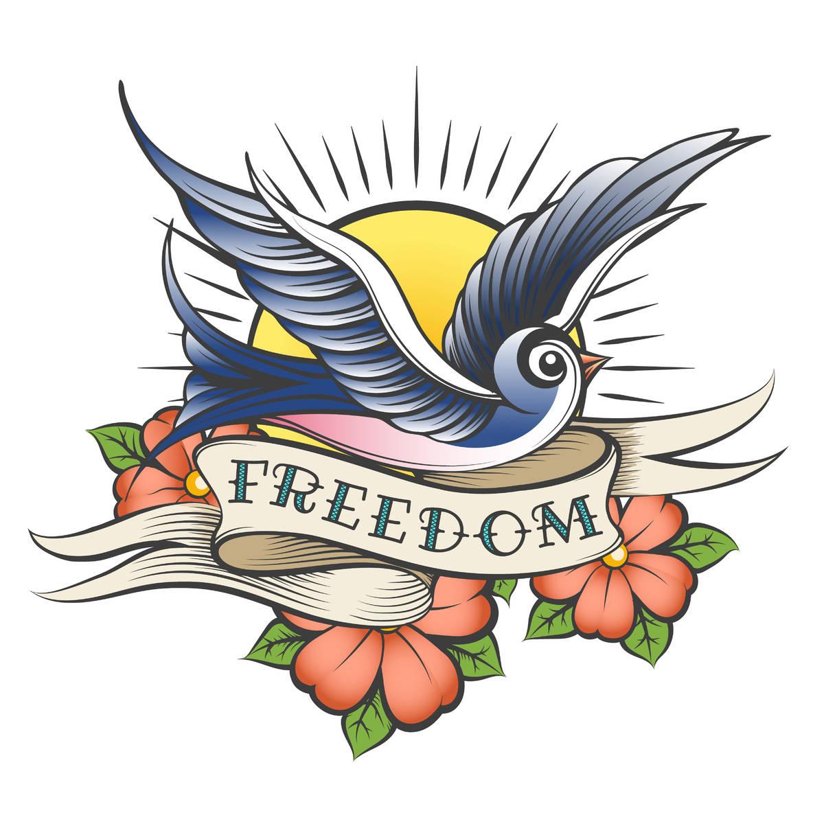 Tatuaggio a tema libertà