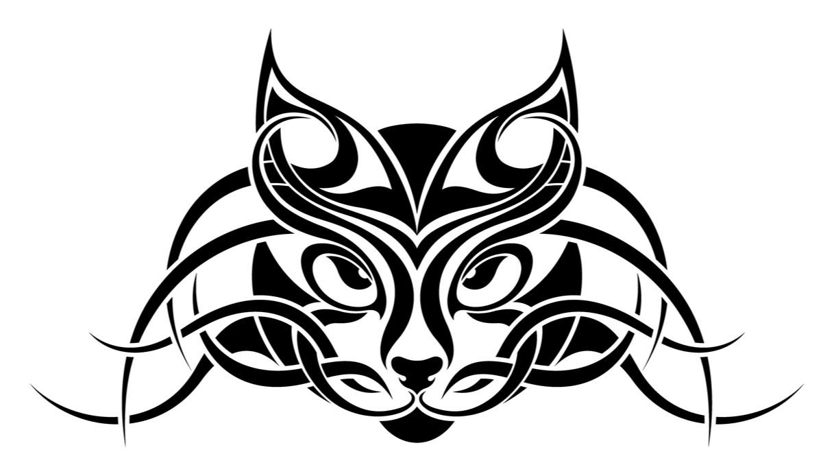 Tattoo con gatto