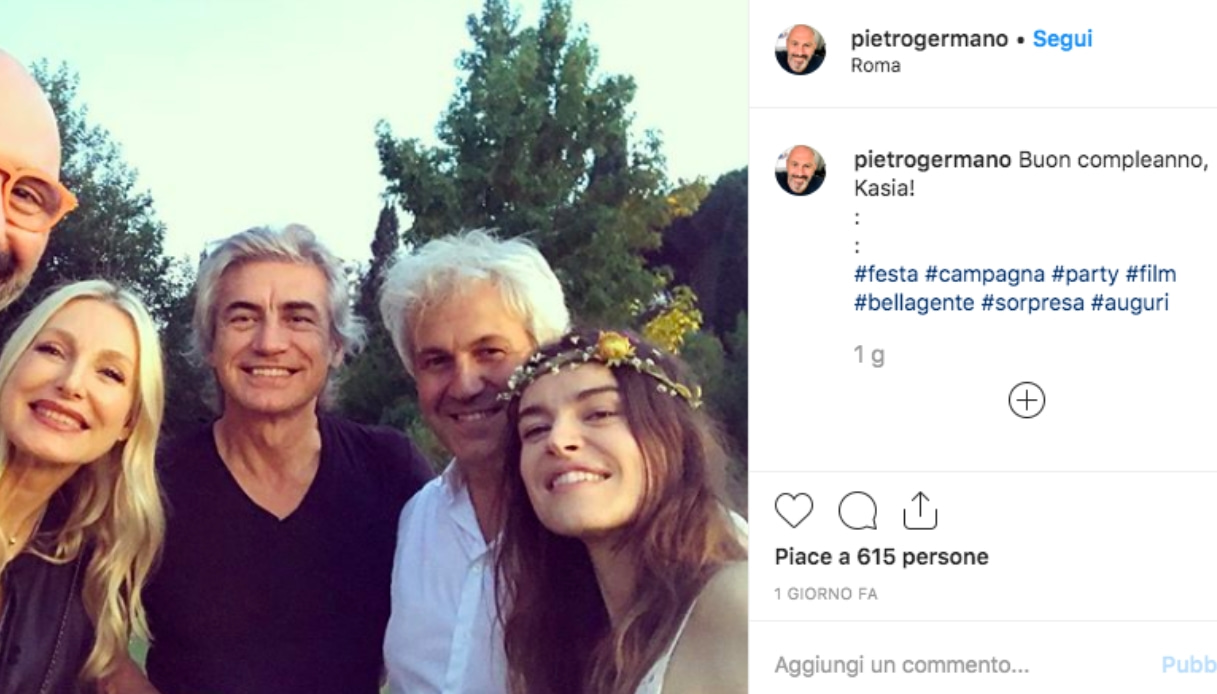 Kasia Smutniak e Domenico Procacci Instagram