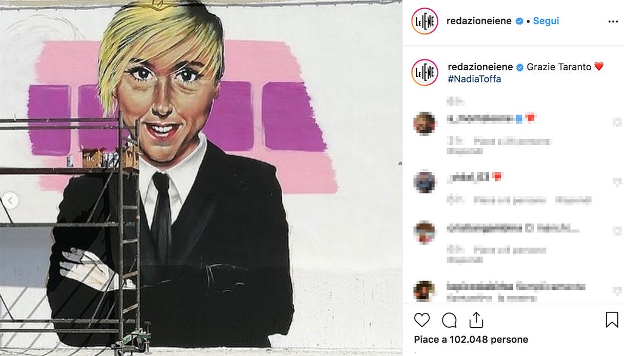 Nadia Toffa, il murales