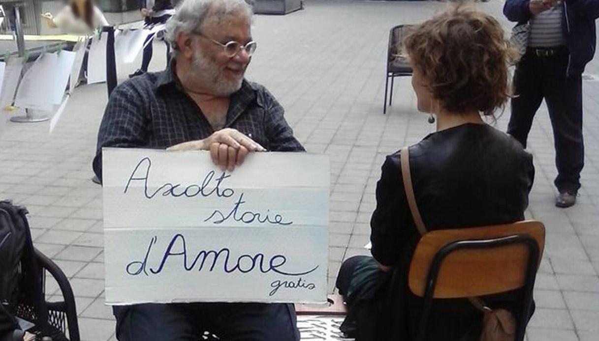 Milano: quest'uomo raccoglie le storie d'amore dei passanti