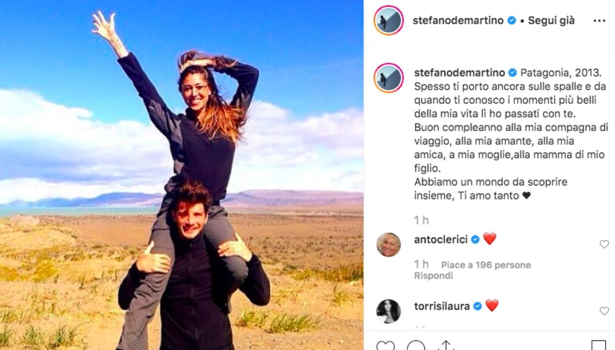 Stefano De Martino e Belen Rodriguez Instagram