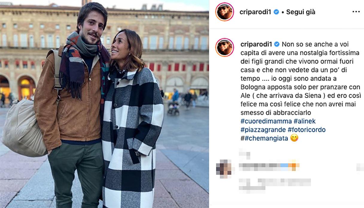 Cristina Parodi e il figlio Alessandro