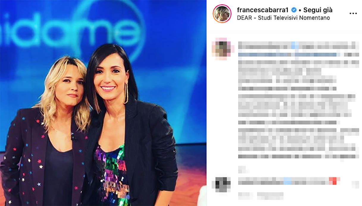 Caterina Balivo, Francesca Barra racconta il suo dolore a Vieni da Me