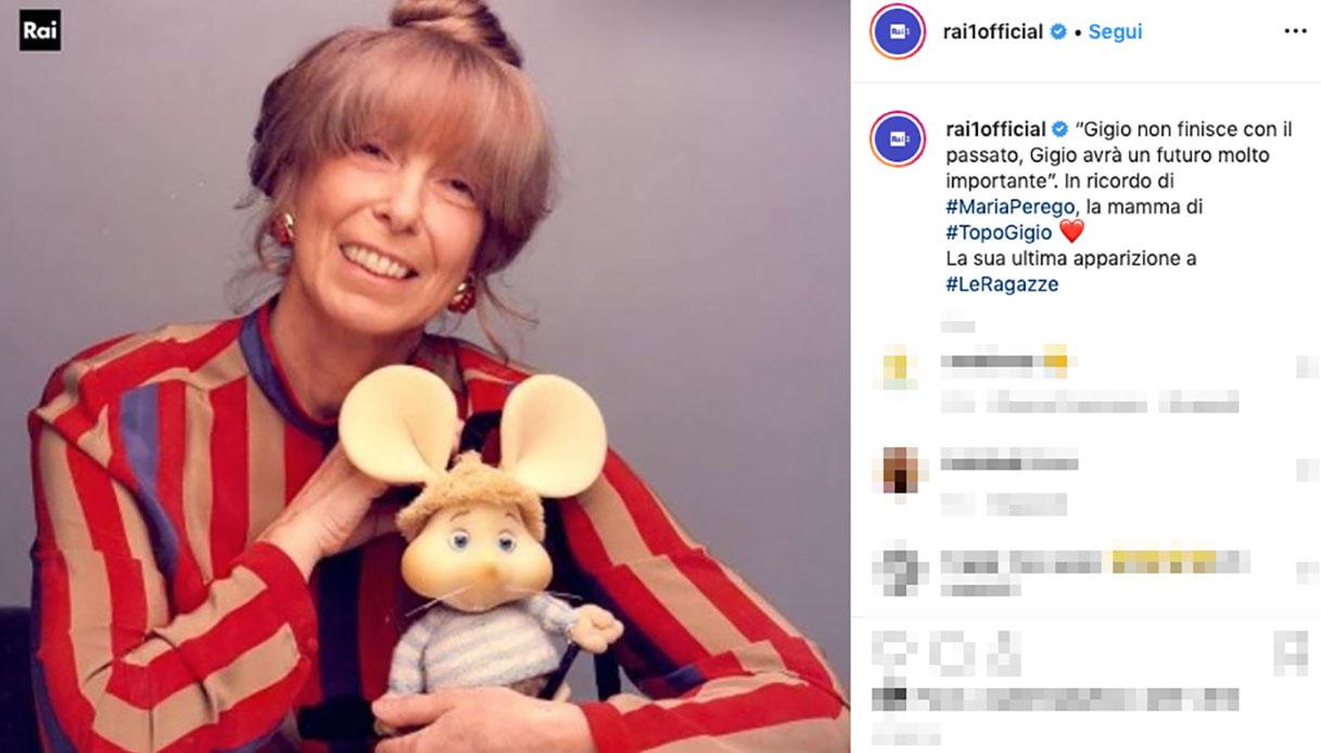 Addio a Maria Perego, la creatrice di Topo Gigio