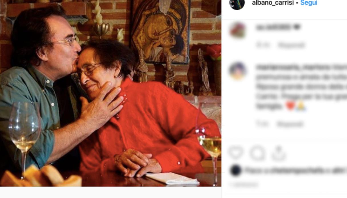 Al Bano, morta la mamma Jolanda: il dolore del cantante