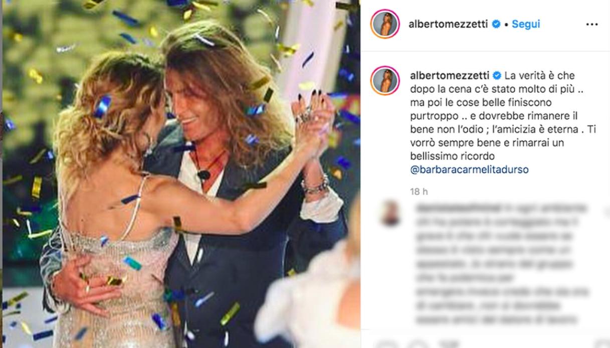 Alberto Mezzetti e Barbara D'Urso Instagram