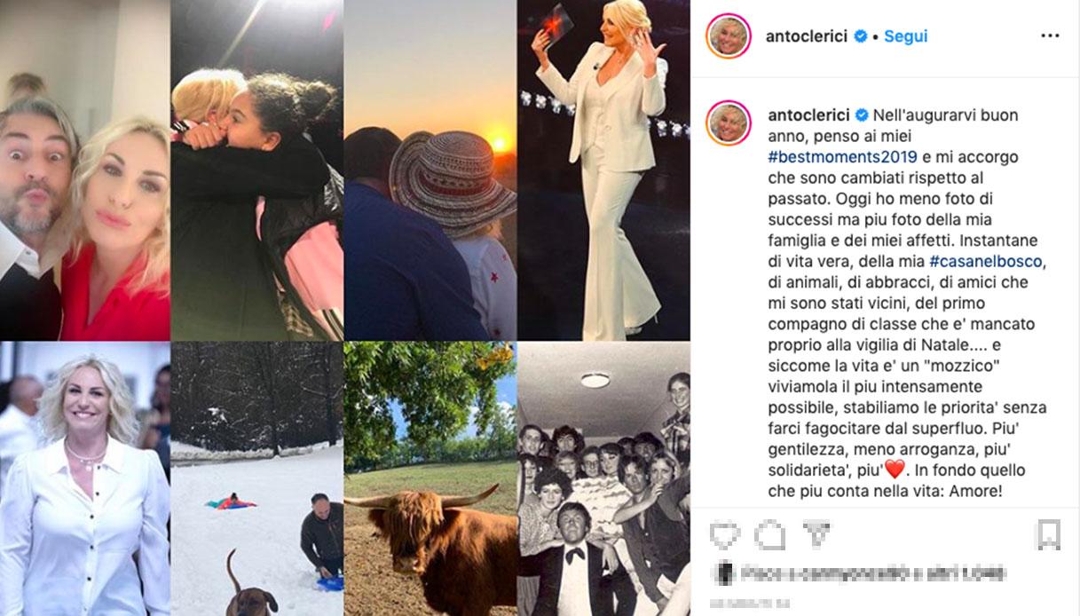 Antonella Clerici su Instagram