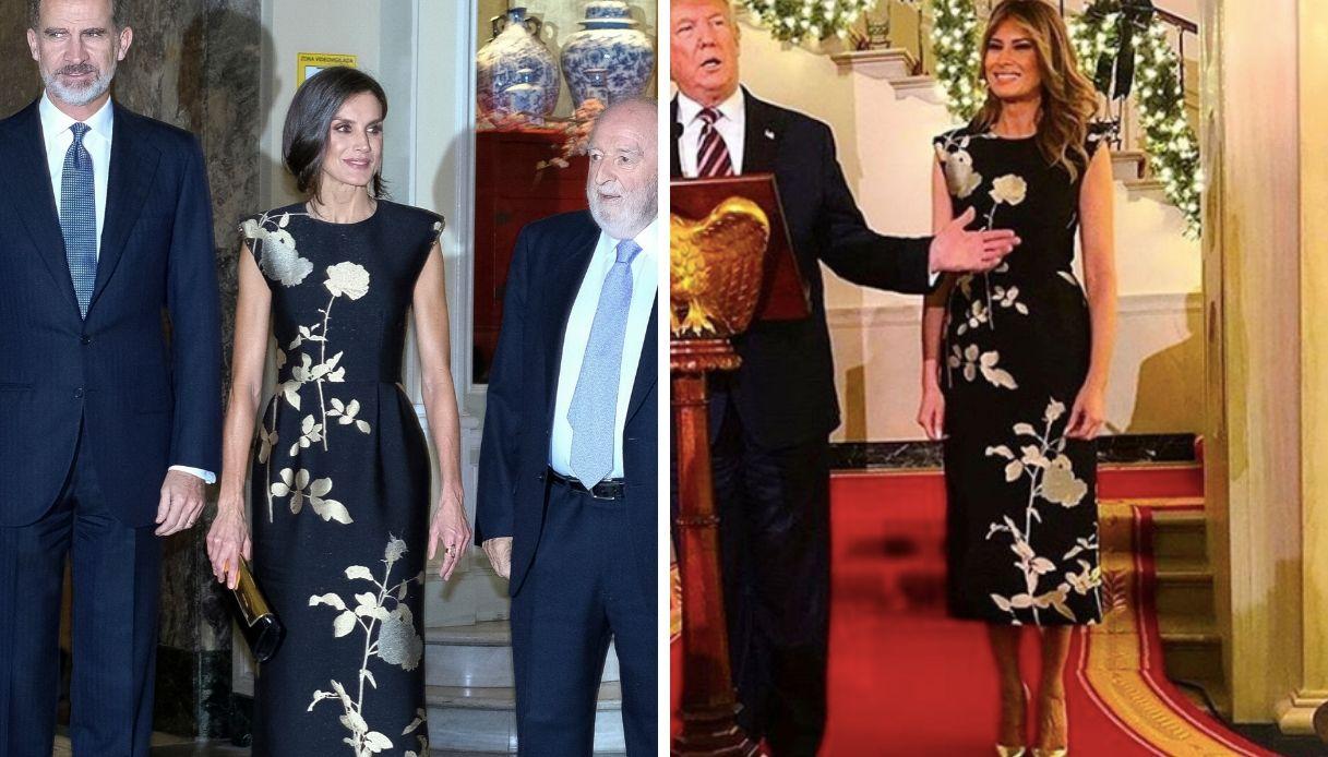 Letizia di Spagna, Melania Trump le copia il look, ma non regge il confronto