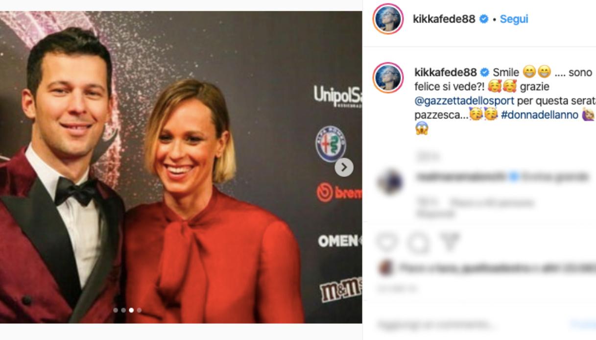 Federica Pellegrini e Matteo Giunta Instagram