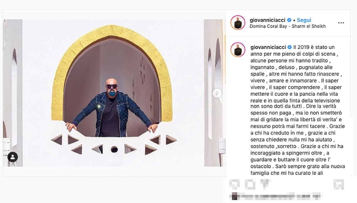 Giovanni Ciacci su Instagram