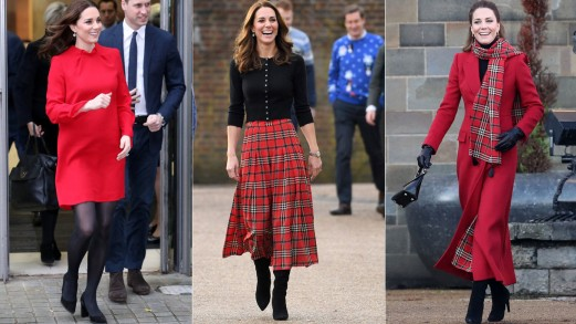 Kate Middleton, i look rossi per dicembre
