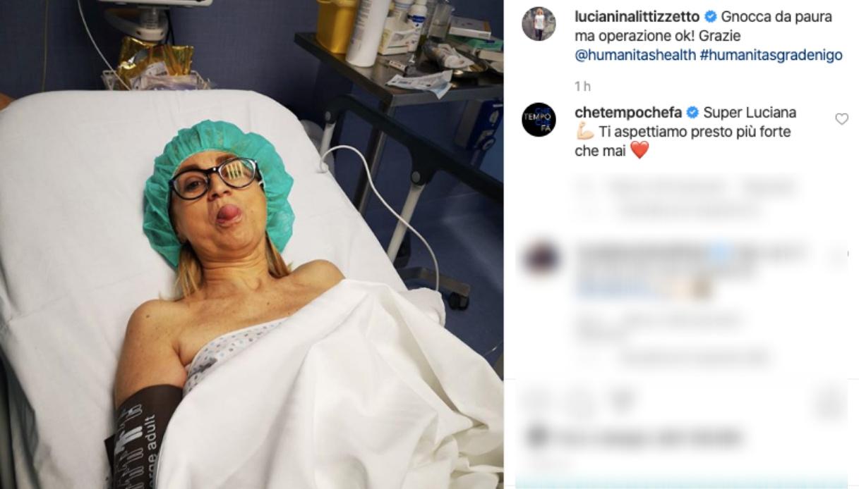 Luciana Littizzetto su Instagram dopo l'incidente
