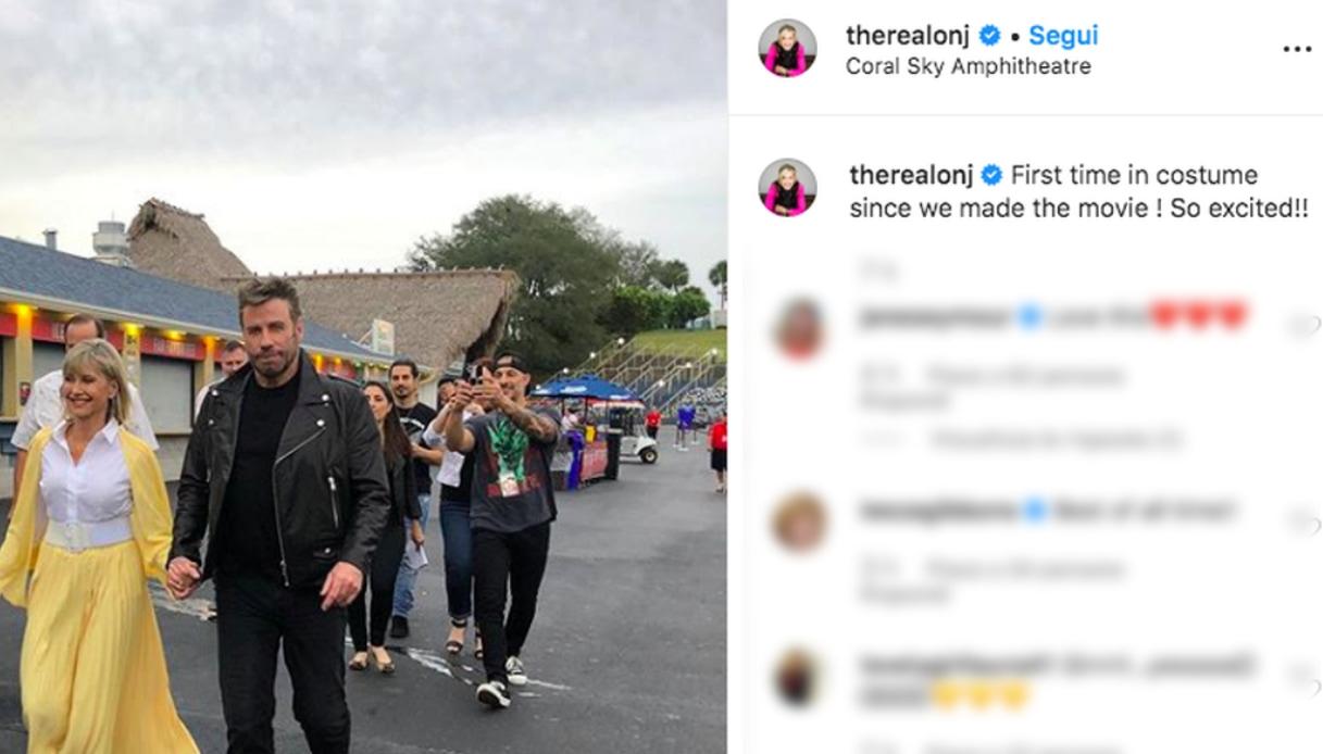 Olivia Newton-John e John Travolta Instagram
