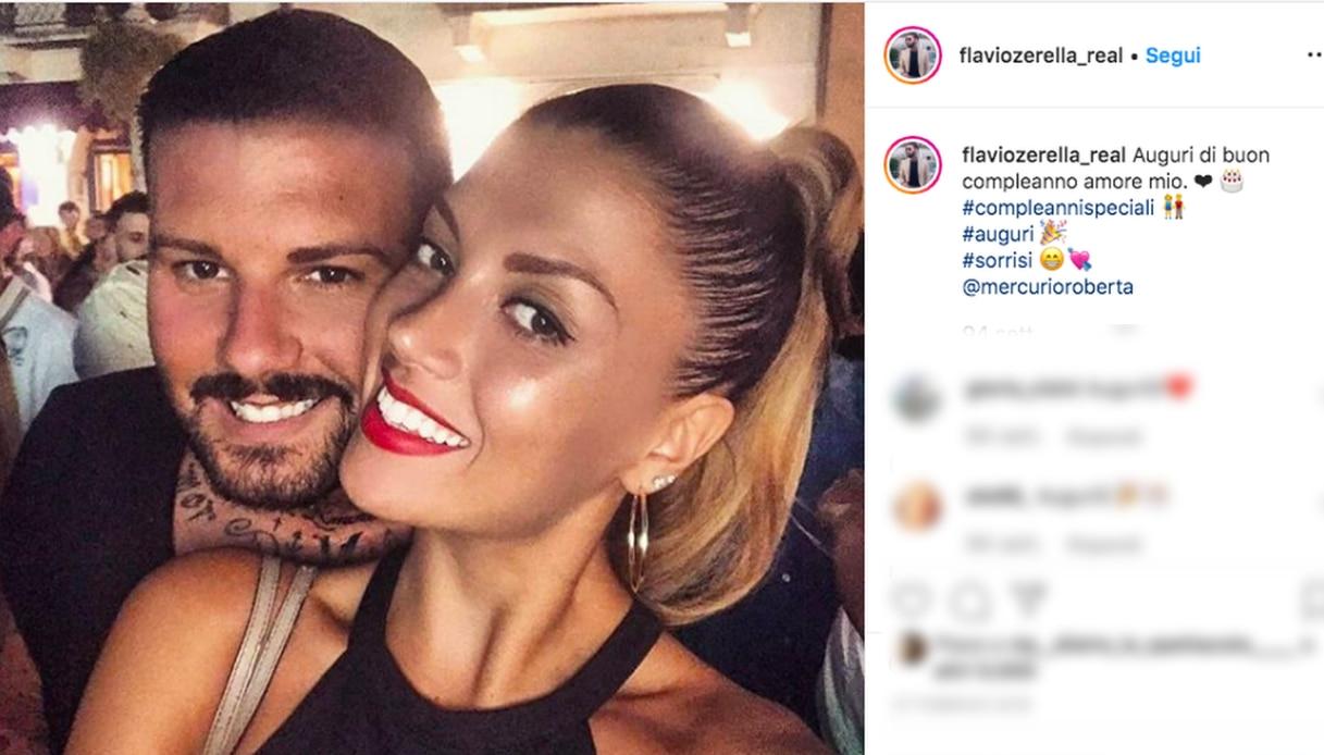 Roberta Mercurio e Flavio Zerella Instagram