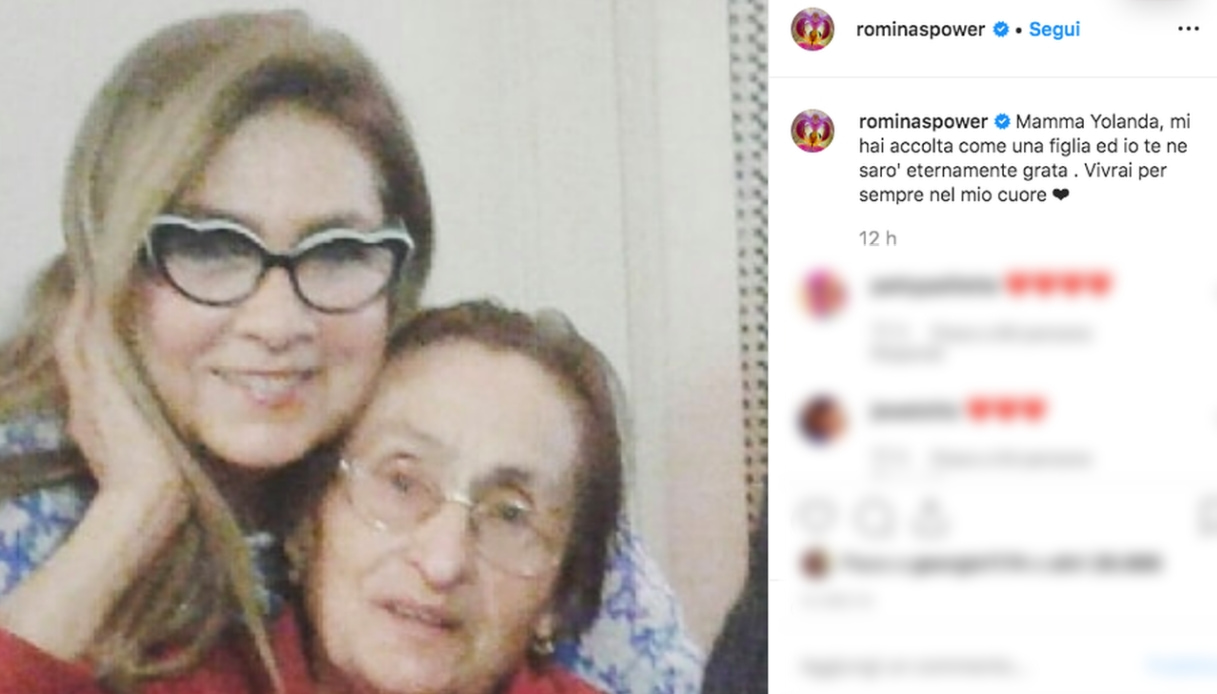 Romina Power e mamma Jolanda Instagram