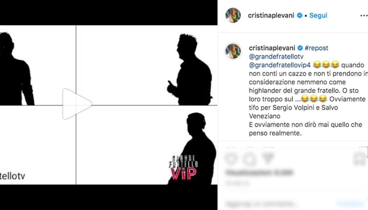 Il post di Cristina Plevani Instagram