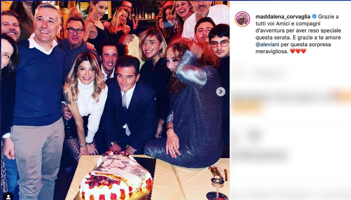 Maddalena Corvaglia al party per i 40 anni Instagram