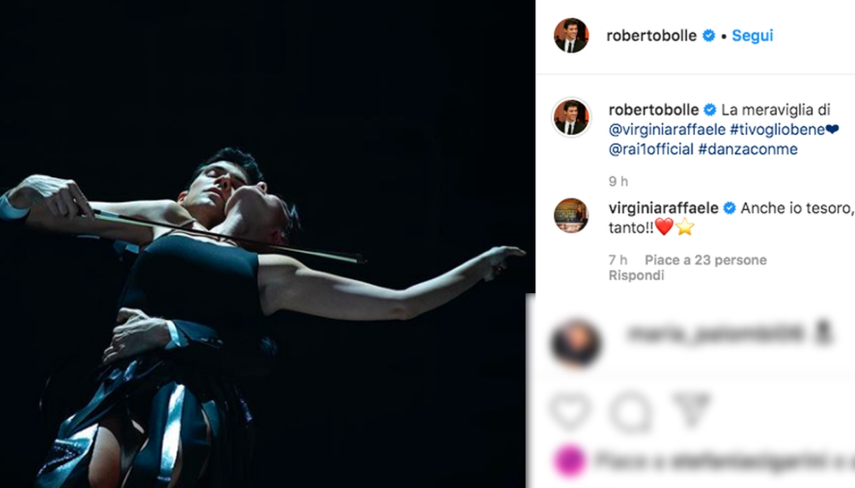Roberto Bolle e Virginia Raffaele Instagram