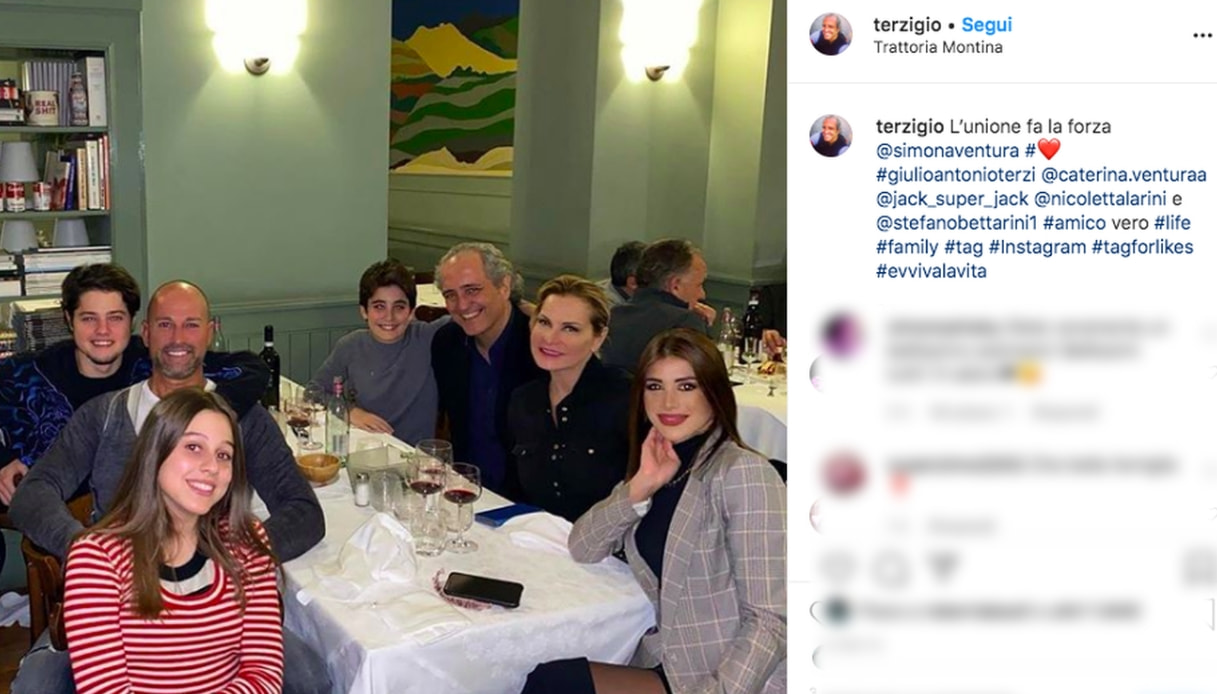 Simona Ventura, Giovanni Terzi e Stefano Bettarini Instagram
