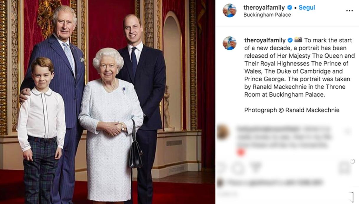 William con la Regina e George
