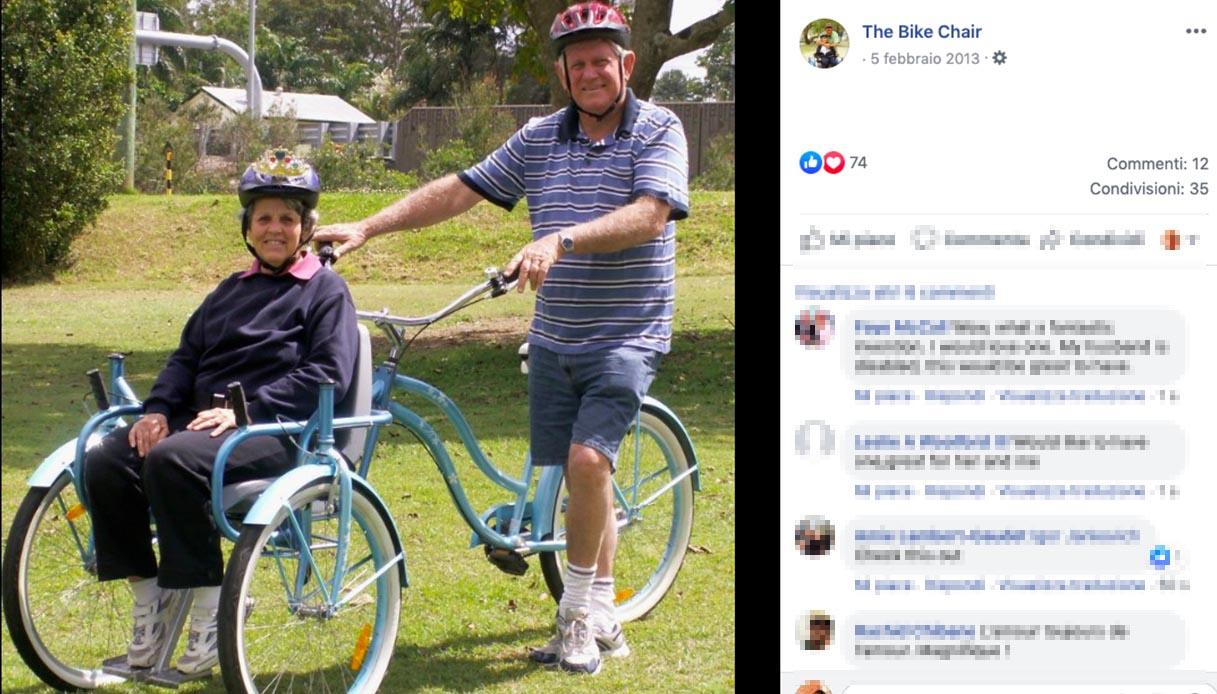 Inventa una bici speciale per la moglie malata di Alzheimer