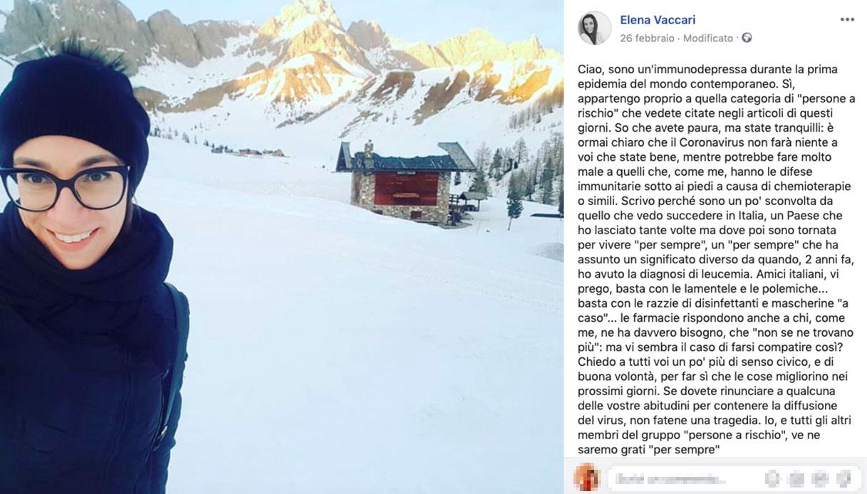 L'appello di Elena