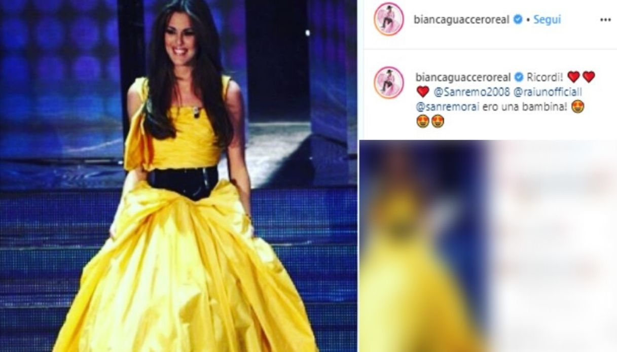 Bianca Guaccero, il suo ricordo di Sanremo 2008 su Instagram