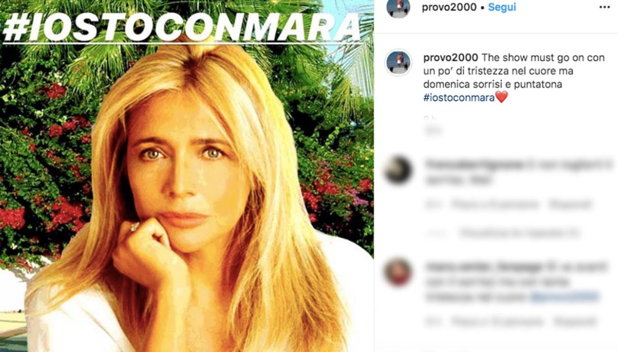 Il post di Nicola Carraro su Mara Venier e Domenica In Instagram