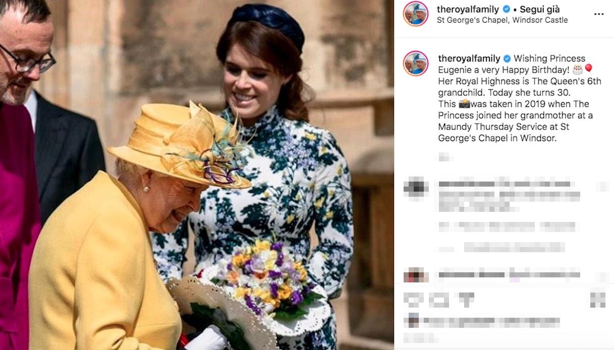 La Regina Elisabetta e la Principessa Eugenia di York